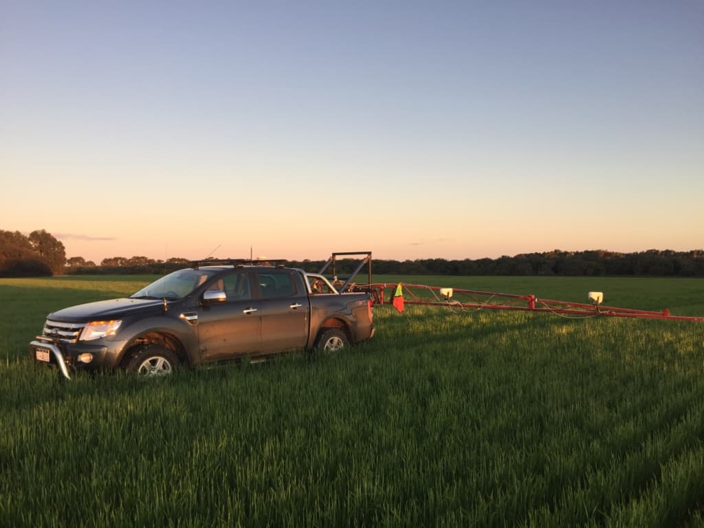 Ford Ranger with GreenSeekers paddock mapping